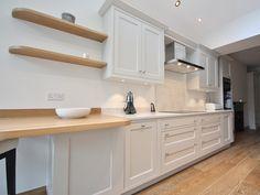 """Cornforth White"" style bespoke hand-painted kitchen design by #enigmadesign #KitchenDesign #BeautifulKitchens"