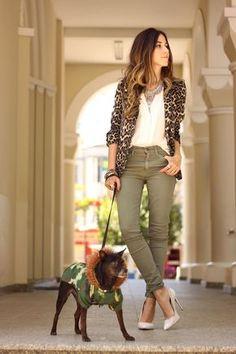 FashionCoolture - look du jour resolution denim Gap leopard blazer Blazer Outfits, Fall Outfits, Casual Outfits, Cute Outfits, Blazer Dress, Dress Outfits, Look Fashion, Autumn Fashion, Fashion Outfits