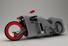 (via Designer: Mikhail Smolyanov | Urodz) Futuristic Cars, Futuristic Motorcycle, Concept Motorcycles, Cars And Motorcycles, Custom Motorcycles, Steampunk Motorcycle, Motorcycle Design, Sidecar, Engin