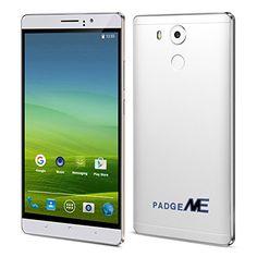 Black Friday PADGENEreg; Unlocked 3G Smartphone 6 inch IPS Screen(1280*720) Android 5.1 Mobile Phone---MTK6580 4 Core 1.3GHz1GB RAM 8GB ROM Dual Sim(Dual Standby) Dual Camera(2.0M/5.0M)WIFI GPS G-Sensor SIM-Free 2G/3G Smartphone Phablet 4800mAh Battery (White) Deals week 2863