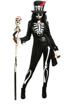 Embrace your powerful side in this plus size women's voodoo skeleton costume. It's perfect for your next Halloween or Dia de los Muertos celebration. Skeleton Costume Women, Halloween Costumes Women Scary, Voodoo Halloween, Skeleton Halloween Costume, Adult Costumes, Scary Costumes For Couples, Vintage Halloween, Fancy Dress Costumes For Women, Halloween Outfits For Women