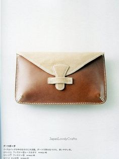 Hand-Sewn Leather Zakka Goods - Japanese Sewing Pattern book for Leather Craft - Bag, Key Case, Pen Case, Coin Purse, etc...- B764. $36.50, via Etsy.