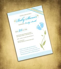 Little Sprout Baby Shower Invitation digital by FrillyJillyDesign, $12.00