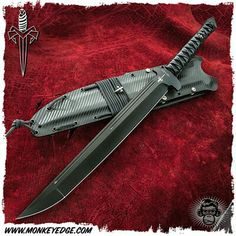 Microtech Marfione Custom: Combat Wakizashi Short Sword - DLC Black