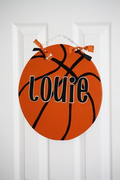 Basketball Sports Door Hanger Personalized by aWhimsicalWelcome, $28.00