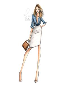 Business Casual Print by HNIllustration on Etsy