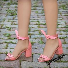 Ceyara Süet Pembe Fiyonklu Topuklu Sandalet #pink #sandals