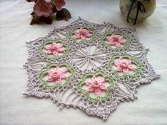 Daffodil Crochet Lace Thread Art Doily by crochetbymsa on Etsy, $18.95