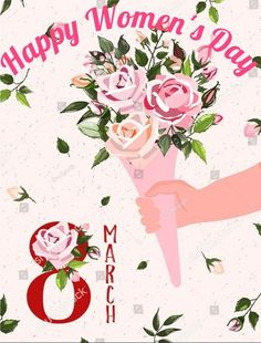 Women's Day 8 March, Happy March, 8th Of March, Woman Day Image, Women's Day Cards, Happy Woman Day, Black Background Wallpaper, Happy Friendship Day, Stock Image
