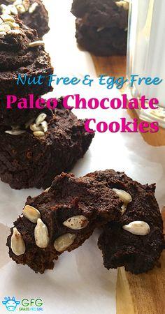 Chocolate Cookie Recipe (Gluten Free, Nut Free, Sugar Free, Dairy Free and Low Fodmap) | https://www.grassfedgirl.com/chocolate-cookie-recipe-gluten-free-nut-free-sugar-free-dairy-free-low-fodmap/