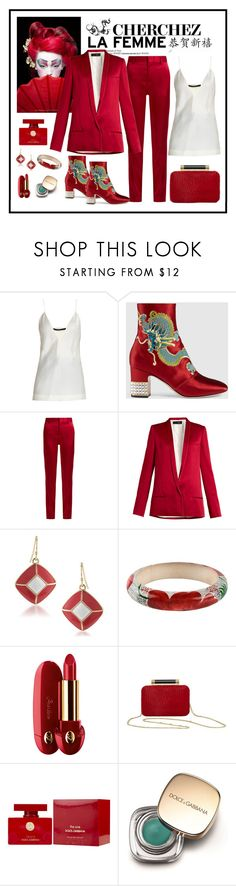 """""""Gucci Dragon Satin Mid-Heel Ankle Boot"""" by romaboots-1 ❤ liked on Polyvore featuring Haider Ackermann, Gucci, 1st & Gorgeous by Carolee, Isabel Marant, Guerlain, Diane Von Furstenberg and Dolce&Gabbana"""