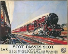 Image detail for -poster by the lms or london midland scottish railway company showing ...