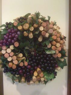 Wine Cork Wreath - made from world-wide wine corks