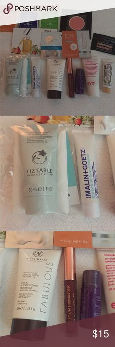 Beauty Sample Bundle Deluxe beauty sample bundle. Variety of 13 unused  samples, 7 are deluxe sized. No trades please. Makeup