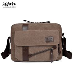 c1e8ef50fbf7 2016 New Men s Fashion Business Travel Shoulder Bags Men Messenger Bags  Canvas Briefcase Men Bag Free