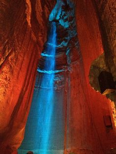 Ruby Falls, Chattanooga, Tennessee - The tunnels to the falls were...