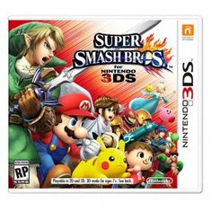 Super Smash Bros. for Nintendo 3DS is a fighting game that stars characters including Mario, Peach, and Donkey Kong, Pikachu and Charizard, Link and Zelda, Samus, Pit, Little Mac, Pac-Man, and Sonic the Hedgehog.