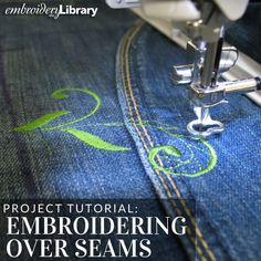 Sew over seams with this tutorial from Embroidery Library.