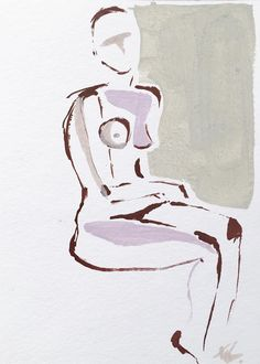 """""""Mini Nude XXVIII"""" painting by NG Collective Studio #painting #UpriseArt"""