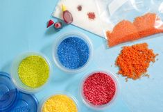 Tinted sugar for decorating: Place granulated sugar, jimmies, or coconut in a resealable bag. Add a few drops of food coloring, zip the bag, and shake. Spread the tinted sugar on a sheet of waxed paper to dry.