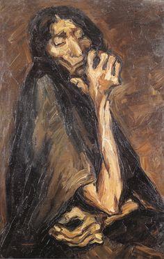 Oswaldo Guyasamin - La vieja, 1941.
