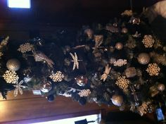 Black, silver and white Christmas tree