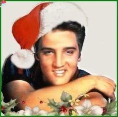 Elvis borrowed Santa's hat