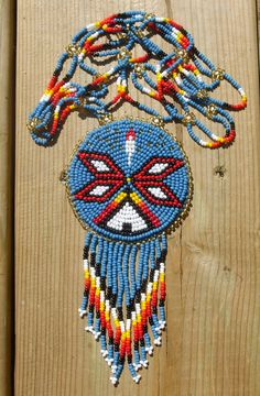 native american beadwork pow-wow native art by deancouchie on Etsy