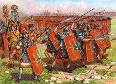 Batalla de Munda (Monda, Málaga, Spain. 17 de marzo de 45 a. C.). Cesar presentó batalla en un terreno accidentado y desfavorable. Sin embargo, la ferocidad con que lucharon sus partidarios, sobre todo la Legio X Equestris (futura Gemina) precipitó el desastre de las legiones partidarias de Pompeyo el Joven. Después de esta victoria y la ejecución y muerte de los líderes de la faccion pompeyana, César regresó a Roma para ser investido dictador.