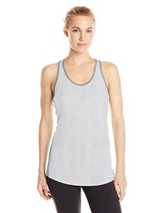 Lucy Womens Workout Racerback Dove Grey HeatherAsphalt Heather Large -- Visit the image link more details.