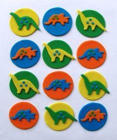 Fondant Cupcake Toppers - Dinosaurs