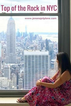 Get the best views of New York City from Top of the Rock at Rockefeller Center. Learn how to visit this New York City landmark, a must-see! Pin to your travel board for future reference.