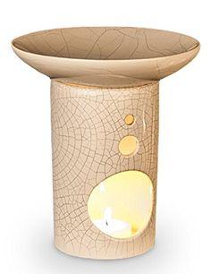 Duftlampe Chi aus Keramik mit Weisscraquelée 14 cm hoch Schale Ø ca. 14,5 cm, Aromalampe für angenehmen Raumduft, Aromatherapie - http://das-lichtzentrum.de/duftlampe-chi-aus-keramik-mit-weisscraquelee-14-cm-hoch-schale-o-ca-145-cm-aromalampe-fuer-angenehmen-raumduft-aromatherapie/  #5Cm, #AromalampeFürAngenehmenRaumduft, #Aromatherapie, #Tempelwelt #Duftlampen