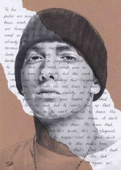 Amazing! Eminem Portrait Drawing  Giclée art print with Lose Yourself