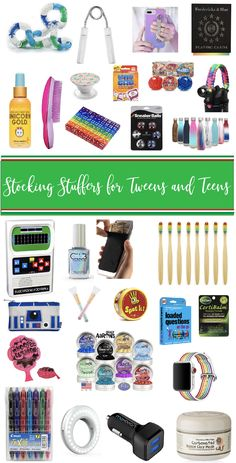 he best stocking stuffers for tweens and teens, items they will really use and love. Stocking stuffer ideas created and approved by my tween and teens. Birthday Gifts For Teens, Teen Birthday, Gifts For Kids, Gifts For Tweens, Friend Birthday, Birthday Quotes, Stocking Stuffers For Teens, Christmas Stocking Stuffers, Stocking Ideas