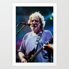 Jerry Garcia  Art Print by Christopher Chouinard - $20.00