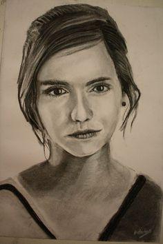 Emma Watson - Charcoal Drawing by ~CaptainBoss on deviantART