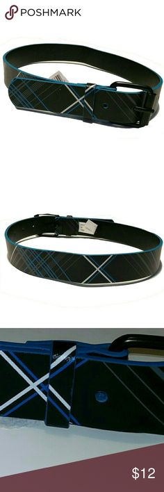 NWOT Black & Blue Plaid Belt NWOT plaid belt. Black with blue and white plaid stripes. Size small. Excellent condition. Accessories Belts