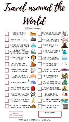 Travel Checklist, Travel List, Travel Mugs, Coffee Travel, Adventure Bucket List, Adventure Travel, Europa Tour, Checklist Template, Destination Voyage