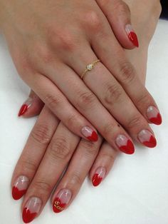 Valentine's Day, red heart tips!