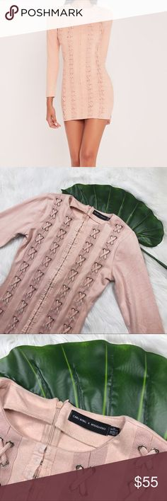 ✨Price Drop Carli Bybel Blush Suede Dress No flaws // Execelent condition Missguided + Dresses Long Sleeve