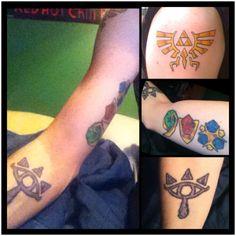 Legend of Zelda tattoos - cloudsandskiesandshit.tumblr.com