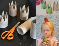 cute crown craft. This would be a great craft for when teaching Where the Wild Things Are :)