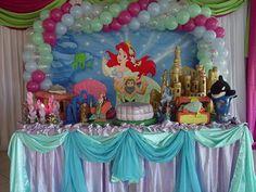 Pequena Sereia decoração de festa infantil zona sul