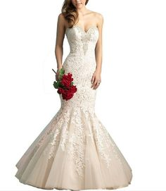 New Lace and White Wedding Dresses Wedding Gowns Dress for Women 5017 (2)