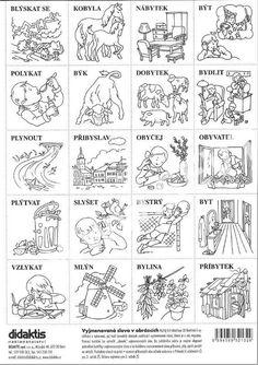 Výsledek obrázku pro vyjmenovaná slova obrázky Playing Cards, Learning, Languages, Homeschooling, Ideas, Language, Literatura, Cuba, Idioms