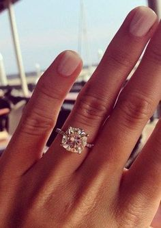 20 STUNNING ENGAGEMENT RINGS THAT WILL BLOW YOU AWAY: #2. 9.5 mm cushion cut brilliant wedding engagement ring