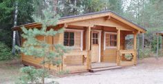 The Pilt wood cabin is a charming design that can be used for a variety of uses from weekend cabin, .