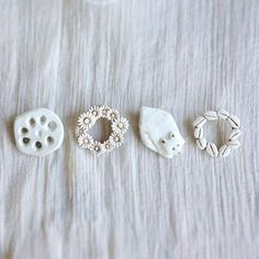 I want to make a clay lotus root brooch. -Adrienne