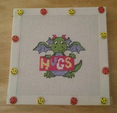 Couldn't sleep last night so I stitched this little cutie #crossstitch